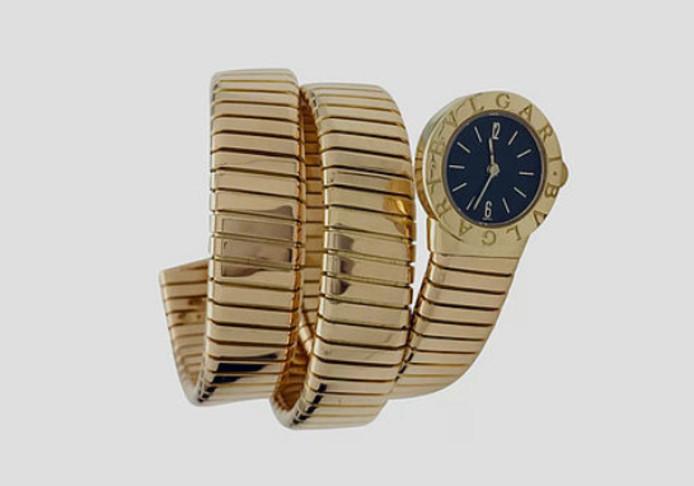 Een 'Serpent'-horloge van Bvlgari.