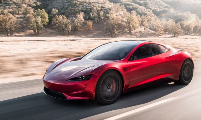 Verrassing Van Formaat Tesla Onthult Met Roadster Snelste Auto