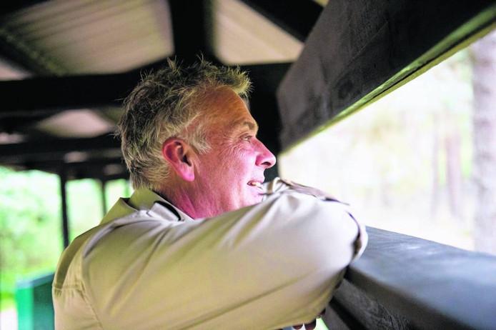 Boswachter Henk Ruseler geniet.