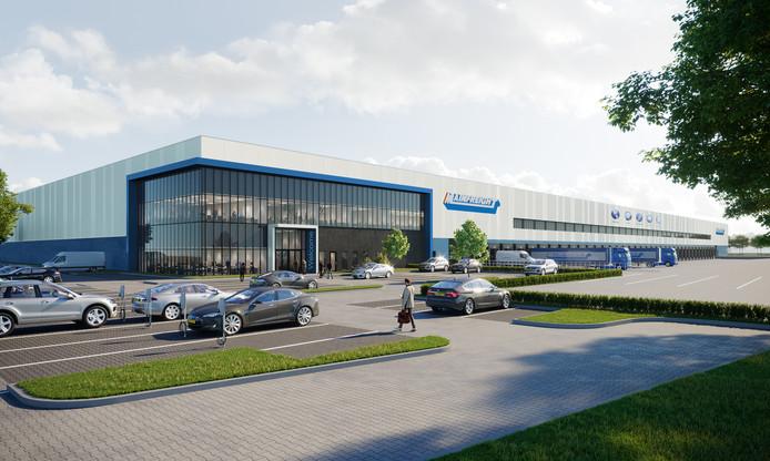 Impressie van het nieuwe distributiecentrum van Mainfreight Europe in Zaltbommel.