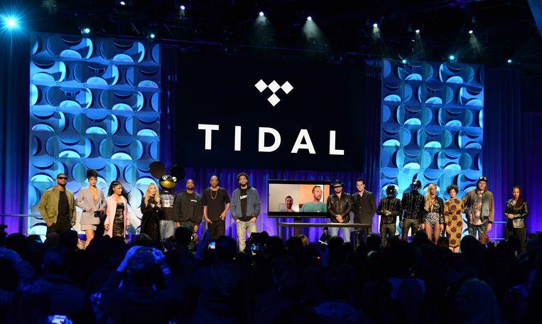 Heel wat sterren waaronder Madonna, Rihanna, Usher en Daft Punk (net als DeadMau5, gemaskerd) kwamen in maart 2015 naar New York voor de lancering van Tidal.
