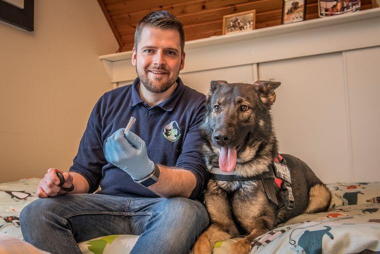 Aarseels hondentrainer Frederik Desmet leerde z'n honden bedwantsen detecteren