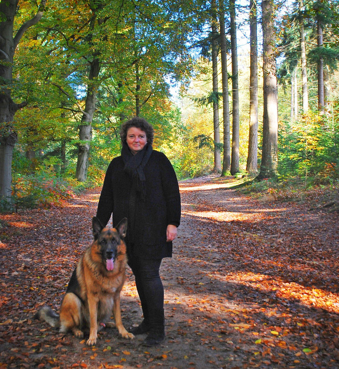 Karin van der Sluis spotte de wolf.