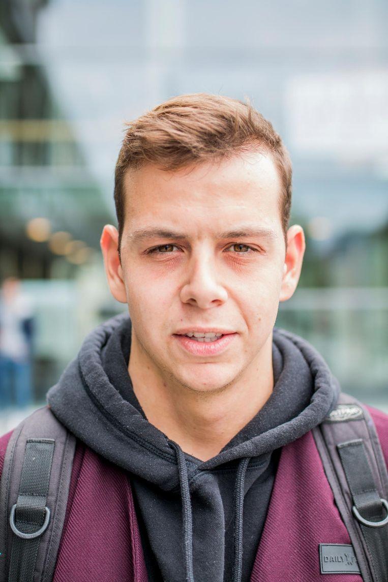 Luuk Verbeek (18), lid van christelijke studentenvereniging Navigators Beeld Jesper Boot