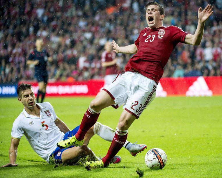 Nog voor de rust haalde Nastasic Hojbjerg neer, maar Agger miste de penalty op 2-0.
