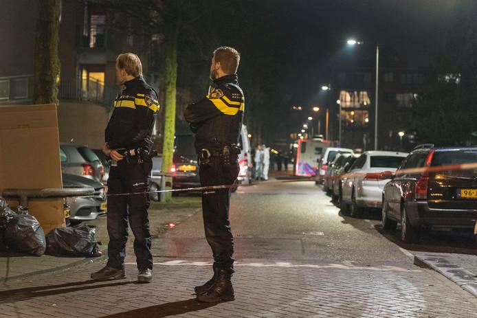 Beeld van na de schietpartij op Wittenburg in 2018, waarbij de onschuldige Mohamed Bouchikhi overleed.