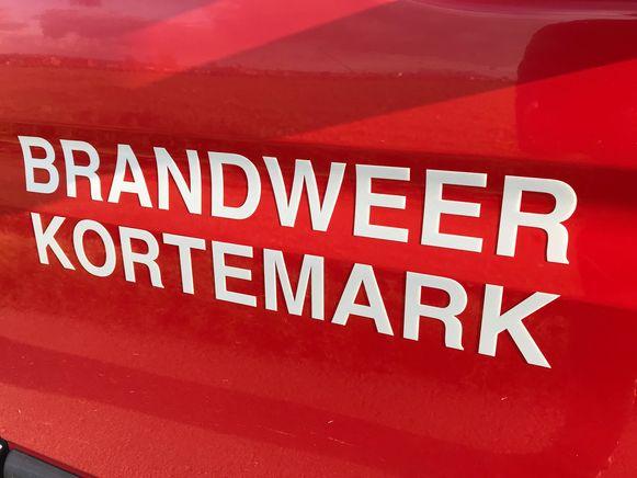 De brandweer van Kortemark ging ter plaatse.