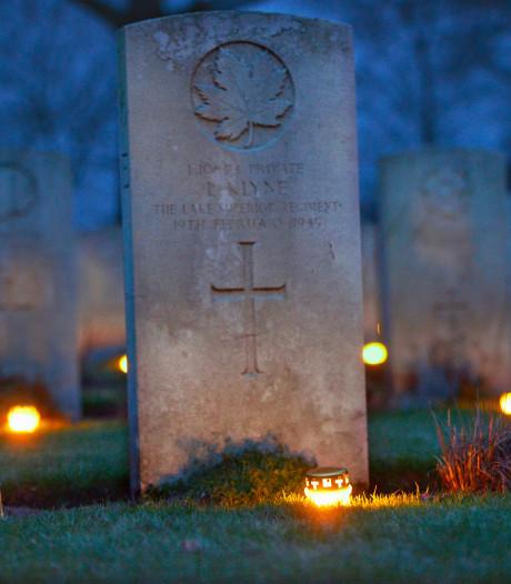 Weer lichtjesavond op Canadese begraafplaats in Groesbeek