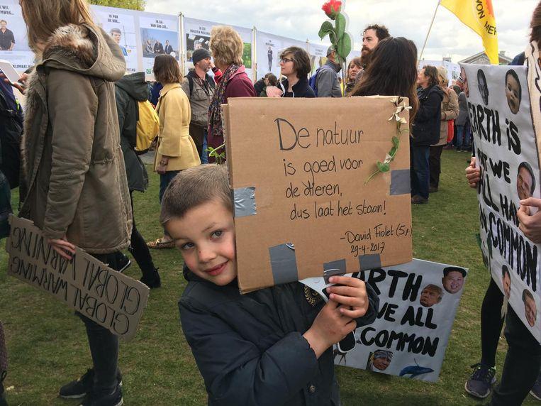 De 5-jarige David Fiolet. Beeld Jorien van der Keijl