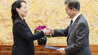 Zus Kim Jong-un nodigt Zuid-Koreaans president uit