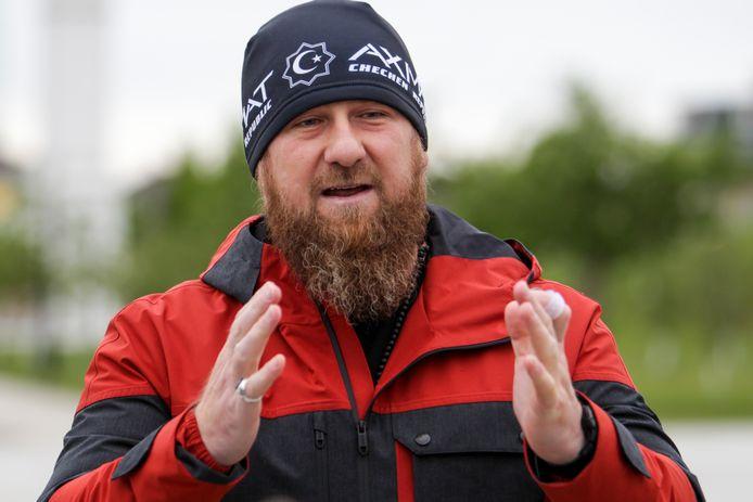 Ramzan Kadyrov, leider van de Tsjetsjeense Republiek