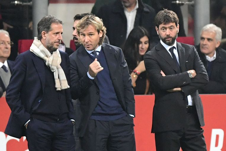 Fabio Paratici, Pavel Nedved en Andrea Agnelli.