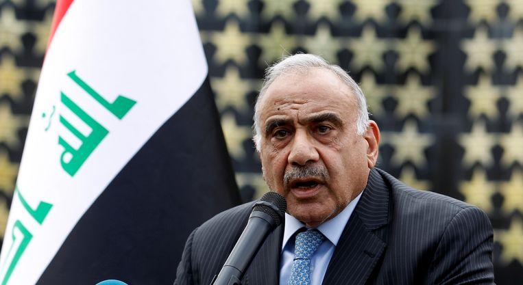 De Iraakse premier Adel Abdul Mahdi.