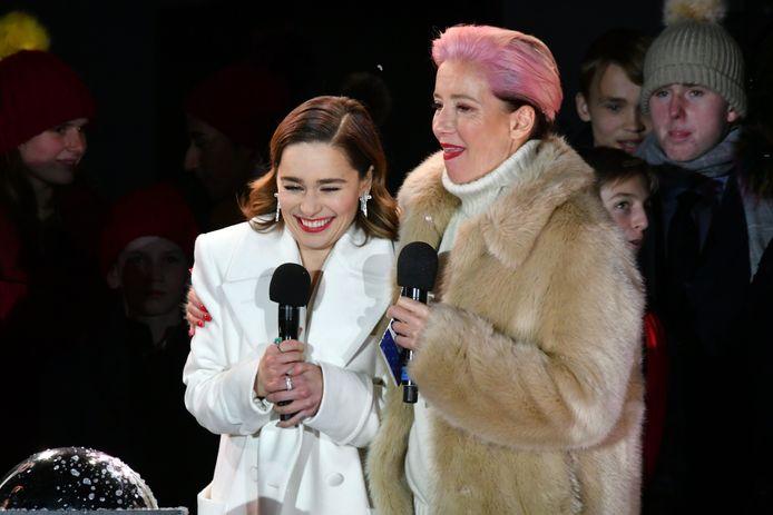Emilia Clarke et Emma Thompson à Covent Garden.