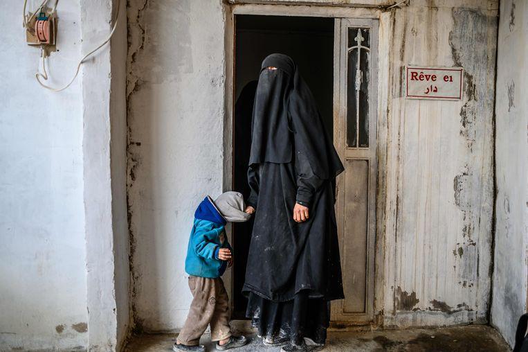 Een Franse vrouw die zich aansloot bij Islamitische Staat.  Beeld AFP