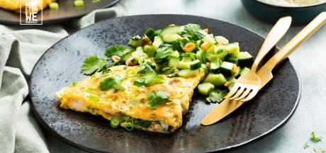 Wat Eten We Vandaag: Vietnamese omelet met garnalen en lente-ui