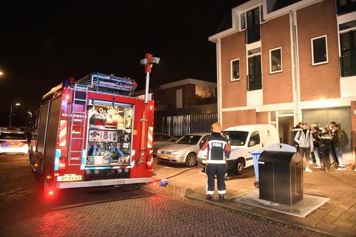 In de berging van een appartementencomplex aan de Brederodestraat in Alphen is brand uitgebroken.