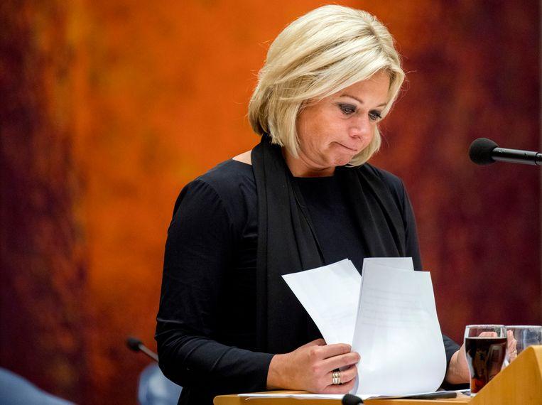 Minister Hennis na haar aftreden. Beeld EPA