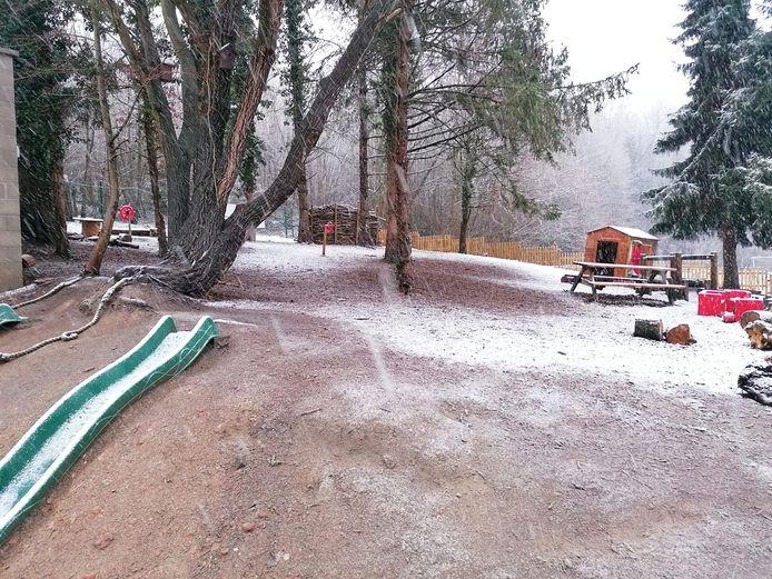 Sneeuw in BS GO! Centrum.