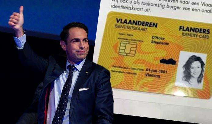 """La """"carte d'identité flamande"""" du Vlaams Belang"""