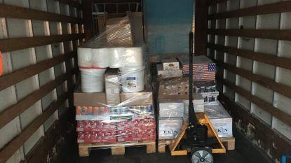 Te zware bestelwagen vervoert voeding in niet-gekoelde laadruimte