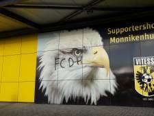 Supportershome Vitesse beklad door aanhangers ADO Den Haag