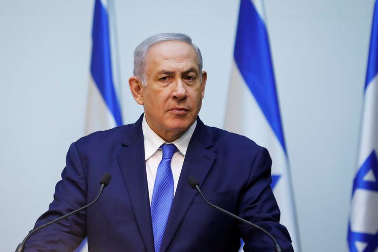 De Israëlische eerste minister Benjamin Netanyahu