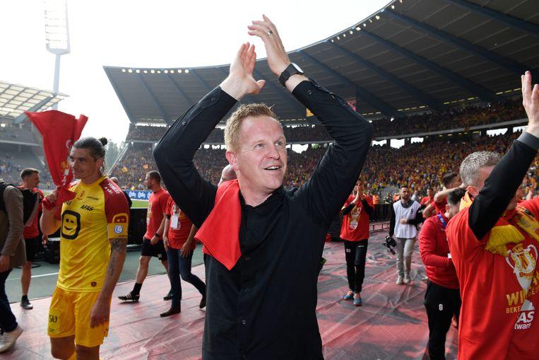 Wouter Vrancken coachte KV Mechelen recent nog naar bekerwinst na de gewonnen finale tegen KAA Gen (2-1).