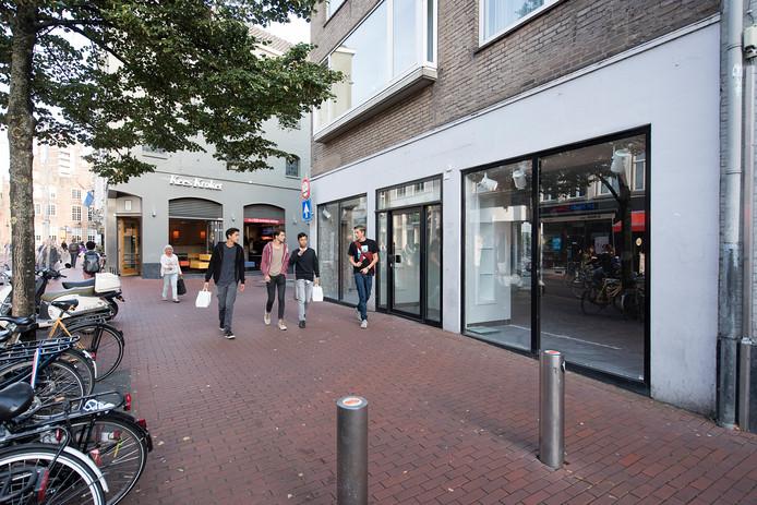 De Visstraat in Den Bosch. Een man en een vrouw en Schijndel stonden deze week in Den Bosch terecht voor mishandeling in deze omgeving.
