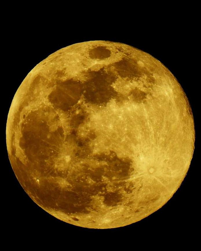 Marleen maakte dit plaatje van de maan.
