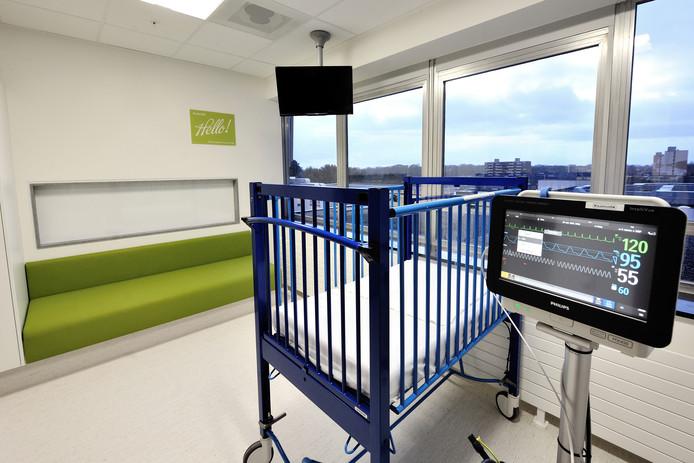 Een kamer op de kinderafdeling van een ziekenhuis in het zuid-westen van Nederland.