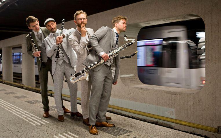 Het Nieuw Amsterdams Klarinet Kwartet, een van de deelnemers aan het festival Ongehoord. Beeld Feiko Koster