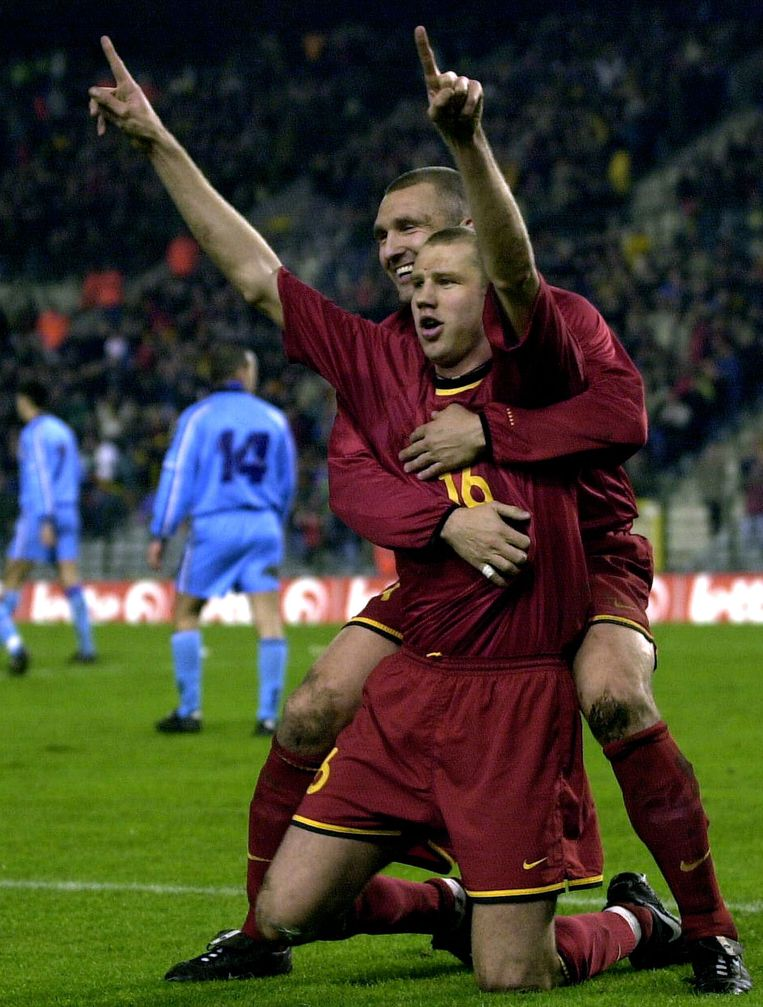 De grootste Belgische overwinning ooit in een kwalificatiematch voor een EK of een WK: België overrompelt San Marino met 10-1 op weg naar het WK 2002. Bob Peeters scoort een perfecte hattrick.