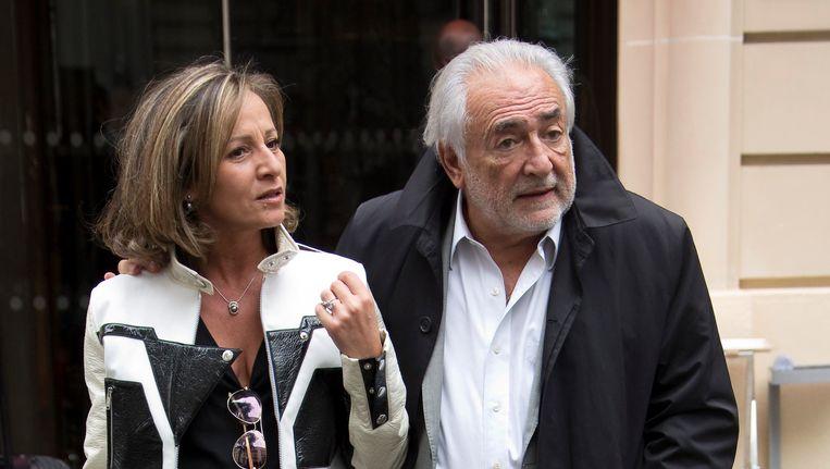 Myriam L'Aouffir en Dominique Strauss-Kahn, vorige maand in Parijs.