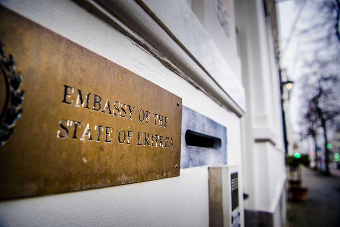 Exterieur van de ambassade van de Staat Eritrea aan de Javastraat.