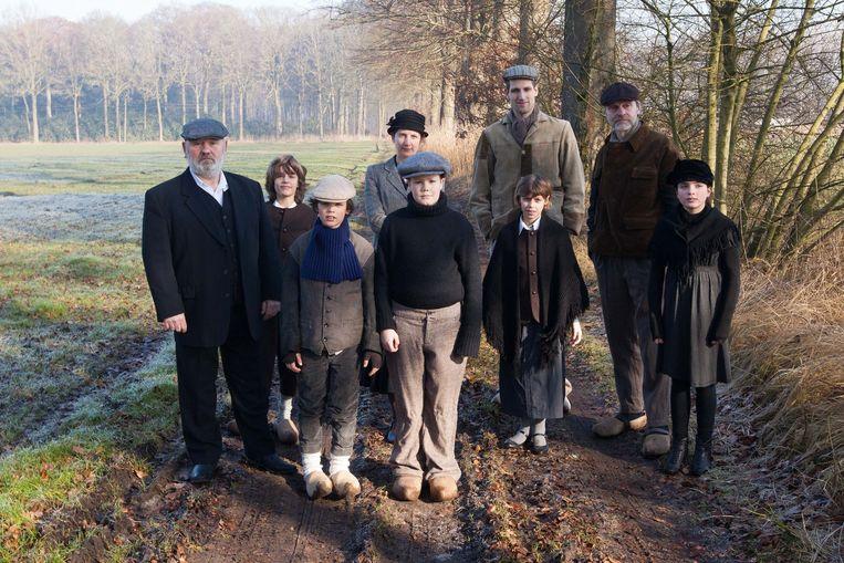 Alle acteurs waren in oude klederdracht, want de film speelt zich af in het jaar 1926.