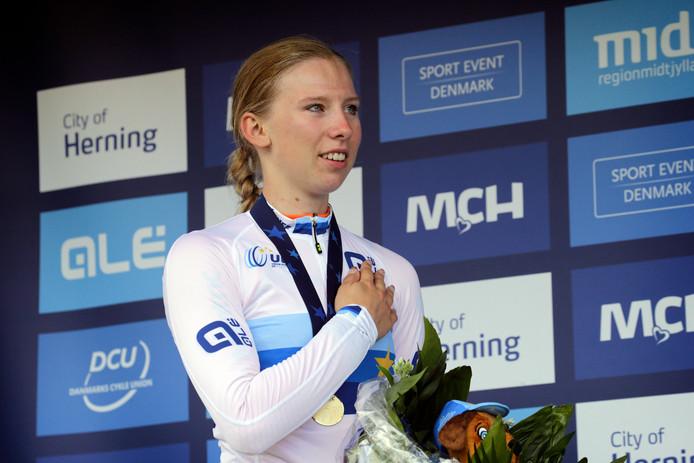 Lorena Wiebes is een  van de kandidaten voor de titel Sportvrouw van het jaar.