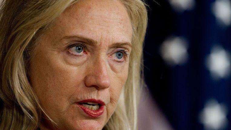 De Amerikaanse minister van Buitenlandse Zaken Hillary Clinton Beeld afp