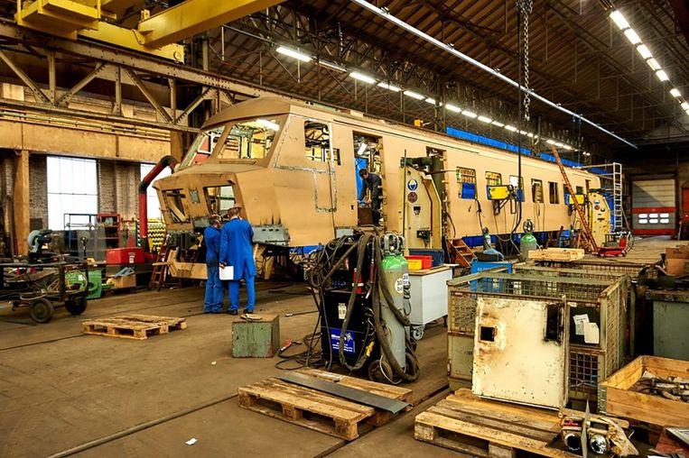 De werkplaats in Gentbrugge.