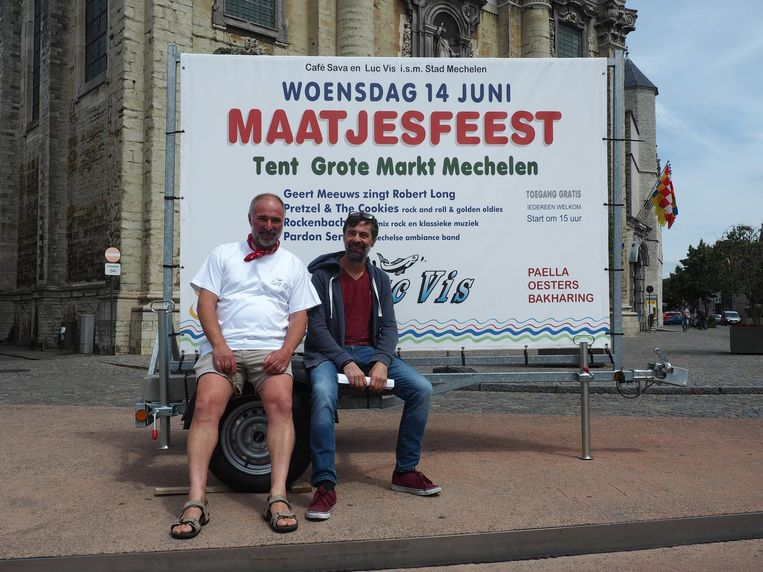 Organisatoren Luc Vis en Karel Meyer.