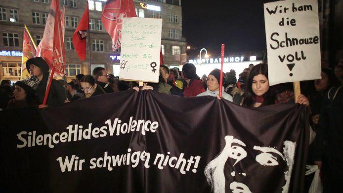 De aanrandingen in Keulen leidden tot veel protesten.