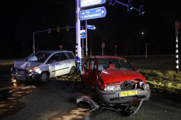 De schade na het ongeluk in Oss was groot.