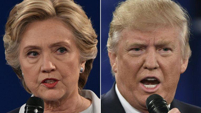 Hillary Clinton en Donald Trump. Beeld anp