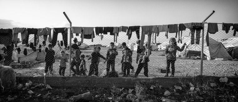 Een kamp in Syrië waar buitenlandse IS-strijders en hun gezinnen verblijven. foto Eddy van Wessel Beeld EDDY VAN WESSEL