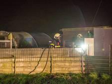 Weer brand bij volktuinencomplex aan Krommeweg in  Steenbergen
