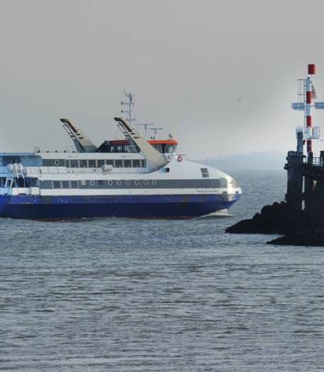 Westerschelde Ferry uit de vaart vanwege harde wind