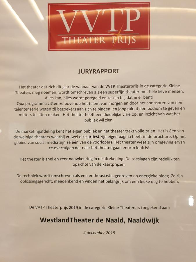 Het juryrapport over De Naald