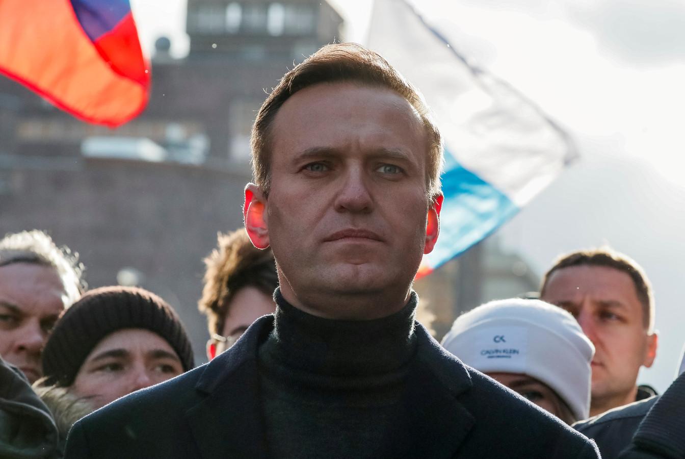 Navalny raakte ernstig ziek toen hij vergiftigd werd.