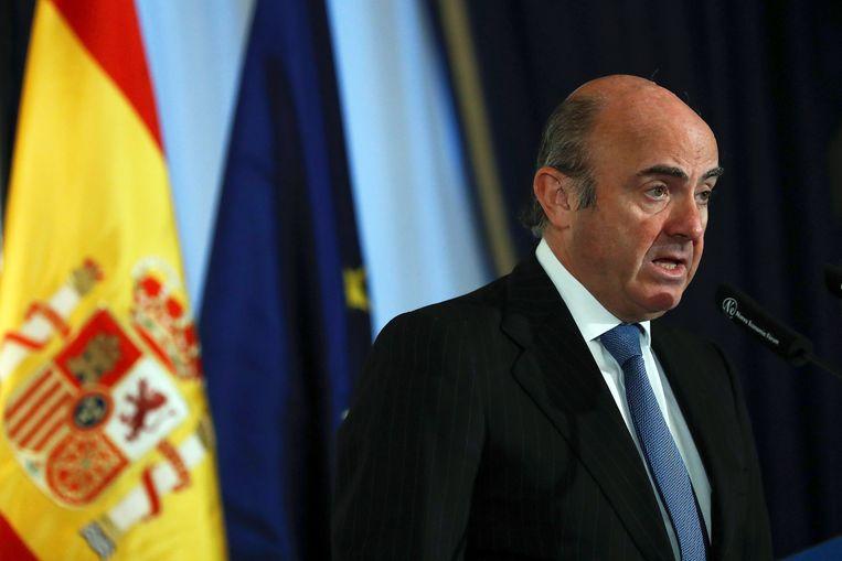 Economieminister Luis de Guindos.