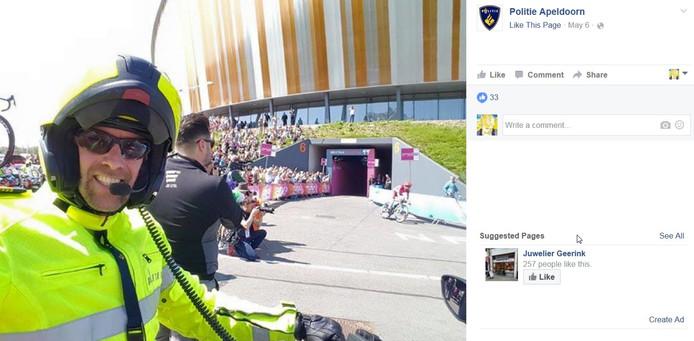 Het gaat niet om vrolijke selfies van de politie op Facebook.
